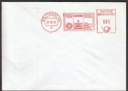 Germany Stuttgart 23.10.1972. Olympic Games Munich /  ZEISS, Optical Electronic Measurement / Machine Stamp - Summer 1972: Munich