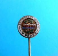 SK SLAVIA Praha - Czech Republic Football Soccer Club Old Pin Badge Fussball Calcio Foot Anstecknadel Distintivo Prague - Voetbal