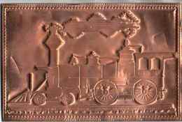 Carte Postale Système, Carte Postale En Cuivre, Kopper Card Locomotive - Treni