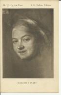 M. Q. De La Tour - Madame Favart - Peintures & Tableaux