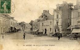 49 SEGRE La Place Grignon   Animée Café - Segre