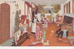 Paquebot - N . Y. K. Line - Childrens Room - Carte En Surimprésion : Achat Immédiat - Paquebots