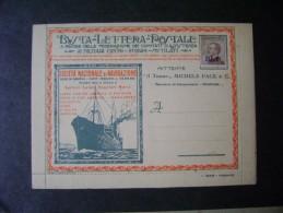 ITALY - BUSTA POSTALE LETTERA, SOCIETA NAZIONALE DI NAVIGAZIONE - JOST - Italy
