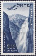 Israel 1954 - Plane Flying Over Tanur Falls ( Mi 85 - YT Pa14 ) MNH** - Airmail