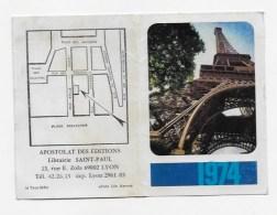 Calendrier De Poche 1974 - Calendriers