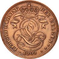 Belgique, 2 Centimes, 1909, TTB+, Cuivre, KM:36 - 1909-1934: Albert I