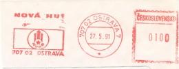 "K7598 - Czechoslovakia (1991) 707 02 Ostrava 7: Nova Hut Ostrava (smelters & Foundries) Removed Text ""Klement Gottwald"" - Famous People"