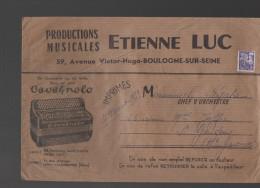 Préoblitéré Coq 8f Sur Enveloppe (PPP2708) - 1953-1960