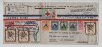 Colombia Registered Cover Air Mail Correo Aereo Armero 1951 V.Ixelles PR2387 - Colombie