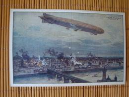 """Künstlerkarte Zeppelin, Luftschiff """"Schütte-Lanz"""" Warschau Bombardierend, Ungelaufen ! - Dirigibili"""