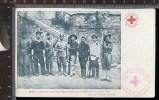 393B/7 CPA CARTOLINA 1901 CINA PECHINO FESTA DEL BERSAGLIERE CROCE ROSSA ITALIANA CENTRALE - Croce Rossa