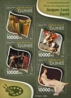 Guinea 2015, Art, J. L. David, Napoleon, 4val In BF - Napoleon