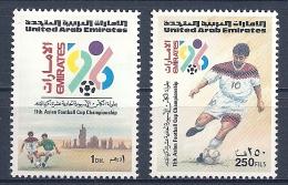 Emirats Arabes - 1996 - Série 11e Championnat Asiatique De Football - Y&T #495-496 -  MNH * * *