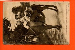 Folklore - La Normandie - Avec Jeannette, Tous Les Jeudis, Nous Allons Faire Le Marché (ânes, Enfants) (pli Coin) - Folklore