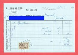 G. ROUSSAUX - Agent De Change - Charleroi - ( Roger JENET Pont-à-Celles ) - Vente Action  - 1963 - GAZELEC - Timb (4152) - Revenue Stamps