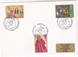 1987 GB CHRISTMAS Stamps COVER EVENT Pmk  CHRISTMAS  COMMON Oxford NATIVITY  Religion Christianity Horse - Christmas