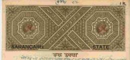 SARANGARH State O/p On KG VI  1R  Stamp Paper T 15  UNRECORDED Value # 89916 Inde Indien India  Fiscaux  Revenue - Cochin
