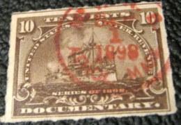 United States 1898 Inland Revenue Documentary 10c - Used - United States