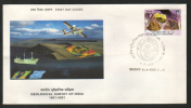 India  2001  Geological Survey Of India  Raw Minerals  Mining Rig  First Day Cover  # 83428  Inde Indien - Geology