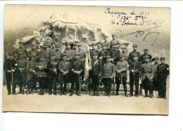 THMS MILITARIA  Royat, Groupe Officiers Du 134 ème RI,carte écrite,signée Par Le Colonel Commandant Le Régiment. 3 Scans - Royat