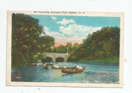 G-I-E , Cp , Etats Unis , Canoeing , DELAWARE Park , BUFFALO , N.Y. , Canoé , Barque  , écrite - Buffalo