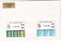 1986 London GB Stamps COVER EVENT Pmk PLAZA CINEMA  Film Movie - Cinema