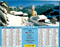 ALMANACH DES P.T.T 1994 (57)   -  Incomplet ** MONT BLANC EN ETE  - INNERBERG (Autriche) ** Calendrier * JEAN LAVIGNE * - Calendriers