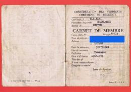 Carnet De Membre - Fédération Des Mutualités Chrétiennes De Charleroi - LA FRATERNITE Luttre - 1948 à 1952 - V    (4161) - Organisaties