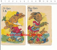 Humour Vintage Imagerie Ancienne / Couple De Lapins / Animal Lapin Et Carotte Humor Rabbit Lapineaux  // IM 189 - Vieux Papiers