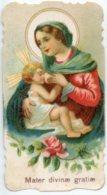Santino Fustellato Antico Cromolitografia MATER DIVINAE GRATIAE (Madonna Delle Grazie) - M36 - Religion & Esotérisme