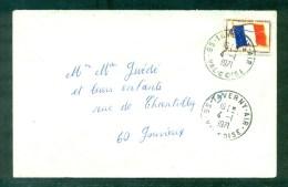 FM Drapeau N°13 Oblitéré Taverny - Air 4.1.1971 Pour Gouvieux (Oise) - Luftpost