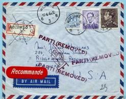 N°1029+848A+854 Op Aanget. Zending, Afst. WOLUWE 3 17/06/1964 Naar BROOKLYN (USA) + PARTI (REMOVED) En Terug 22/06/1964 - 1953-1972 Brillen
