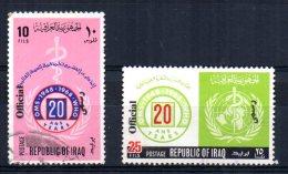 Iraq - 1971 - Officials/20th Anniversary WHO (Part Set) - Used - Iraq