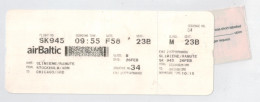 Flight Ticket From Stockholm To Chicago 2013 - Transportation Tickets