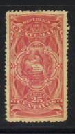 Guatemala Revenue - 25 Centavos Goodman #R130 Mint Hinged - Guatemala