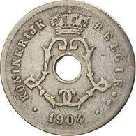 Belgique, 5 Centimes, 1904, TB+, Copper-nickel, KM:55 - 1865-1909: Leopold II