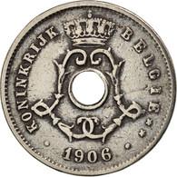 Belgique, 5 Centimes, 1906, TTB, Copper-nickel, KM:55 - 1865-1909: Leopold II