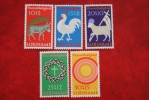 Paaszegels; NVPH Nr: 556-560 Mi 596-600 ; 1971 MH / Ongebruikt SURINAME / SURINAM - Surinam ... - 1975