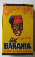 BANANIA, BOITE CARTONNÉE 250 G,PETIT DEJEUNER FAMILIAL,DECOUPAGE CONSTRUCTION LE CHAT ET LE RENARD,1 POINT BANANIA,CHOCO - Old Paper