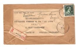 TP 696 Léopold Col Ouvert S/Dvt De Colis En Recommandée C.Erezée En 1947 V.Ets Delhaize Frères BXL Ouest PR2992 - Belgique