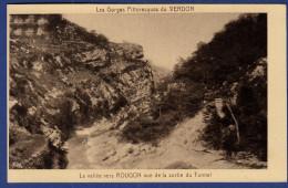 04 GORGES DU VERDON La Vallée Vers Rougon Vue De La Sortie Du Tunnel - France