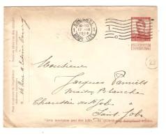 Entier Enveloppe 10 C C.méc.Bruxelles 17/3/1914 V.St.Job à Uccle C.d'arrivée PR2995 - Entiers Postaux