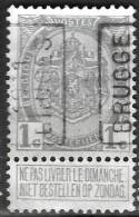 6Wz-558: N° 1604 A: BRUGGE 1911 BRUGES - Prematasellados