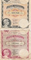 - 2 BILLETS De LOTERIE NATIONALE De 1934 - 009 - Billets De Loterie