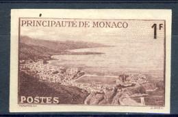Monaco 1943 N. 256 F. 1 Bruno-lilla MNH NON DENTELLATO Catalogo € 20,50 - Monaco