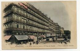 LL , 13 , MARSEILLE , Le Grand Hôtel Du Louvre & La Rue De Noailles , Vierge, DOS SIMPLE , N°19 , Ed: NEURDEN Frères - Marseille