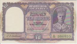 India 10 Rupees 1943 Pick 24 UNC - India