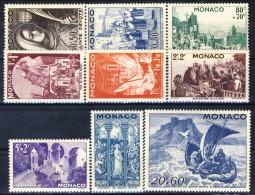 Monaco 1944 Serie N. 265-273 Festa Di S. Devote  MNH Catalogo € 25 - Monaco