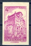 Monaco 1946 N. 278 F. 4 Lilla-rosa MNH NON DENTELLATO Catalogo € 23,50 - Monaco