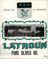 ISRAEL - Abbaye De LATROUN - Etiquette Huile D'olives De LATROUN - Publicités